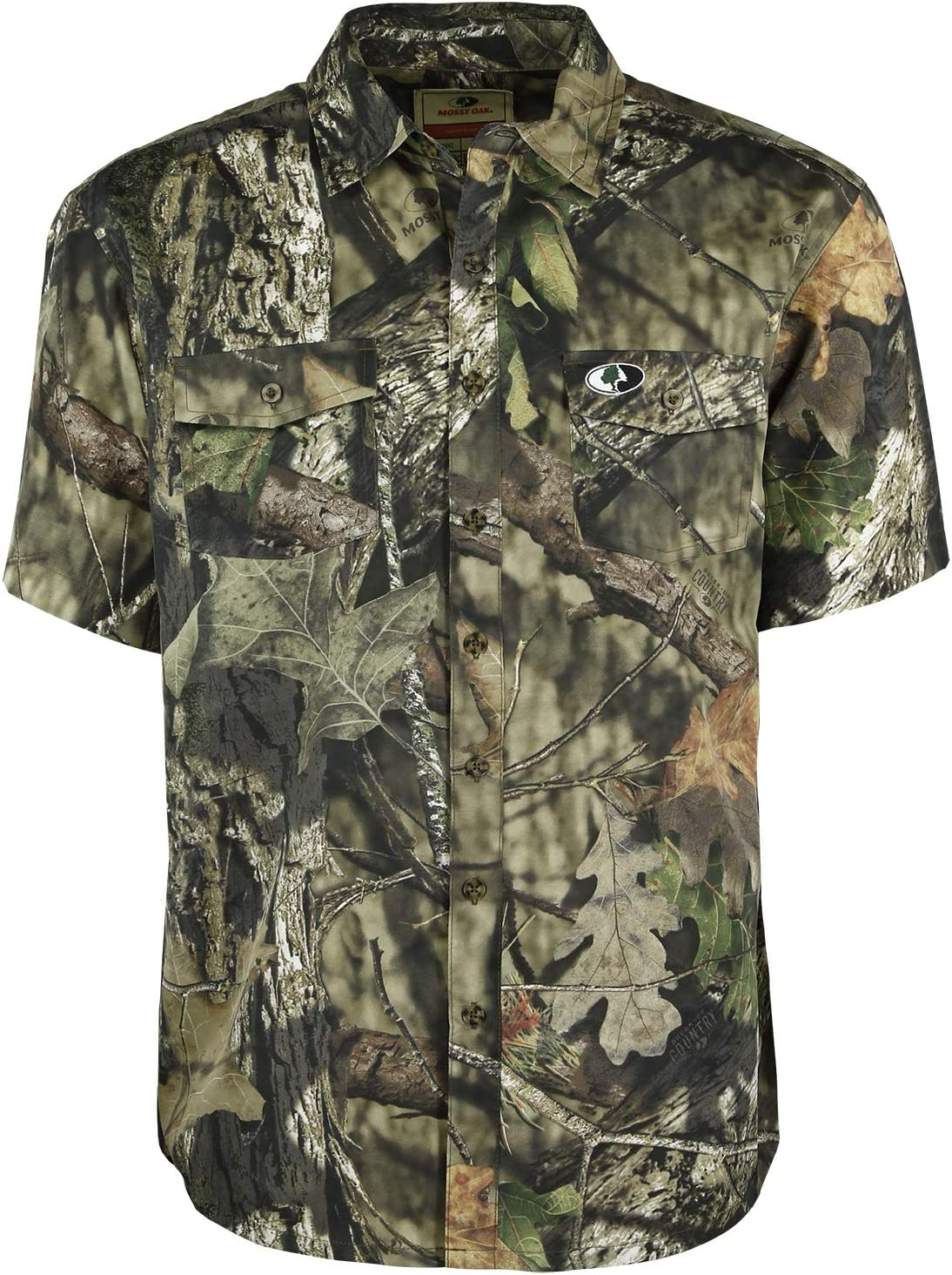 Mossy Oak Camo Ultralight Short Sleeve Hunting Shirt for Men