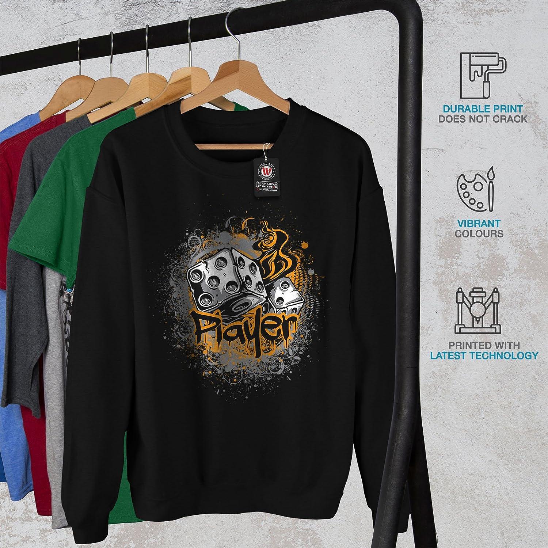 Roll Casual Jumper wellcoda Player Dice Lucky Gamble Mens Sweatshirt