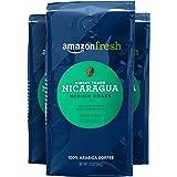 AmazonFresh 直接贸易尼加拉瓜 研磨咖啡, 中度烘培,12盎司(339.6克)(3件装)