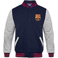 FC Barcelona - Chaqueta deportiva oficial para niño - Estilo béisbol americano