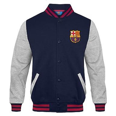 FC Barcelona - Chaqueta deportiva oficial para niño - Estilo béisbol  americano  Amazon.es  Ropa y accesorios d8e7e61699cf3