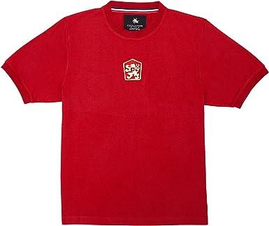 Coolligan - Camiseta de Fútbol Retro 1976 Panenka - Color - Rojo ...