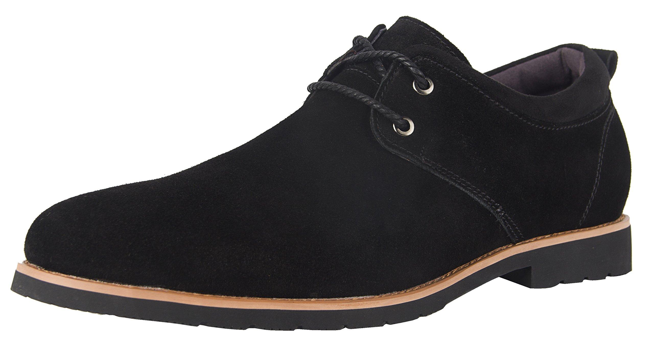 iLoveSIA Men's Classic Dress Oxford Suede Leather Formal Shoe Black US Size 9 by iLoveSIA