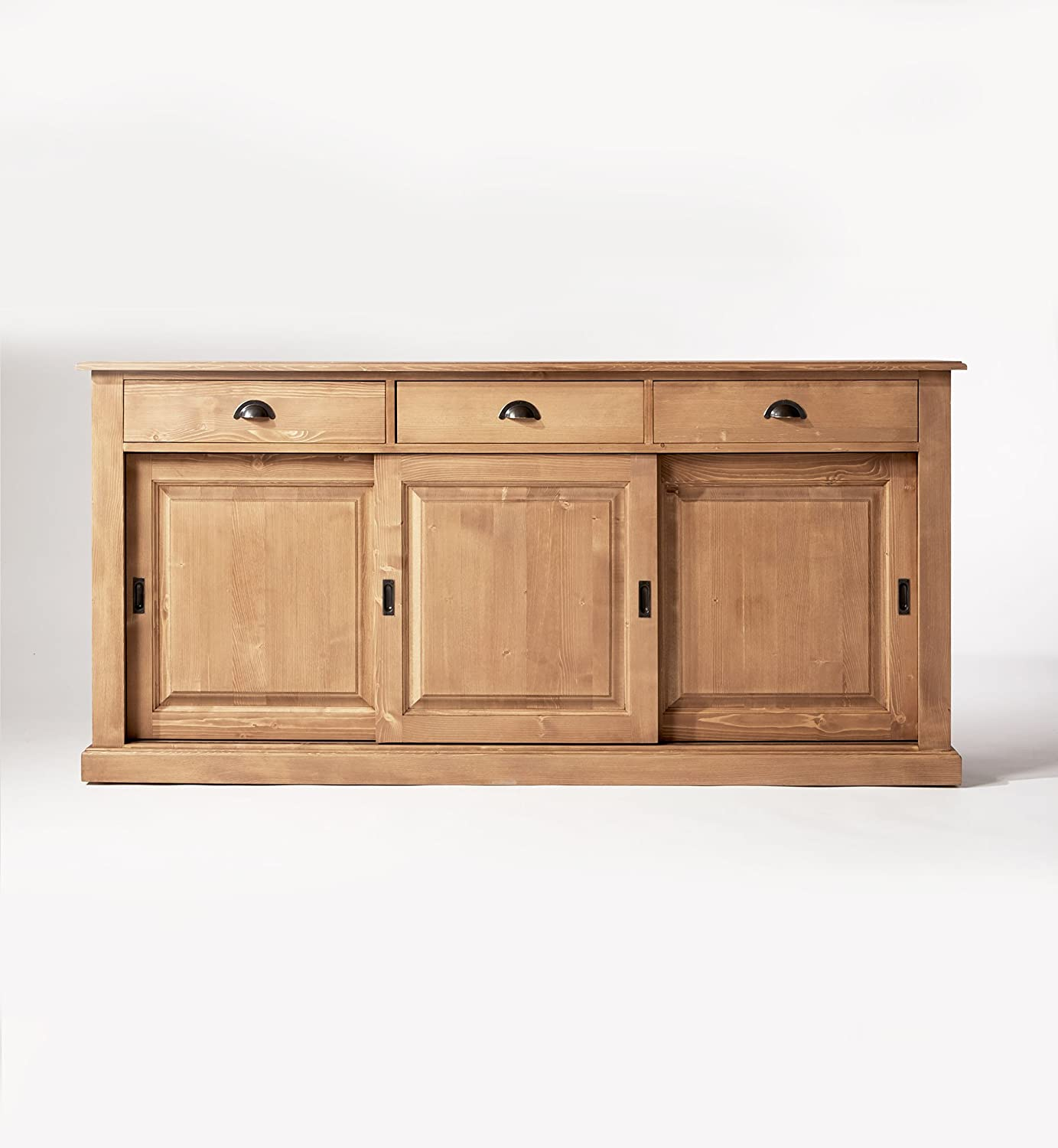 sideboard aus kiefer honig wachs 3 t rig kiefer massiv holz g nstig kaufen. Black Bedroom Furniture Sets. Home Design Ideas