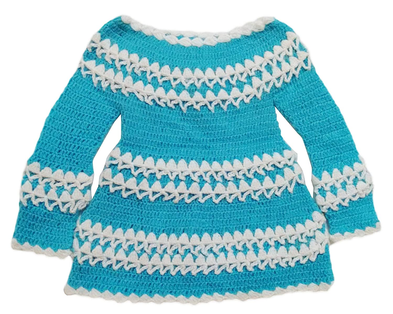 70ad13327218 Spritz Collection Woolen Girl Baby Frock Sweater(Blue 12 to 18 ...