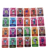 24pcs NFC Game Cards Tag for ACNH Animal Crossing New Horizons Villager Switch/Switch Lite/Wii U with 1 Crystal Case