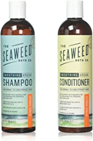 Seaweed Bath Company Smoothing Citrus All Natural Shampoo and Conditioner Bundle With Organic Bladderwrack Seaweed, Aloe Ver
