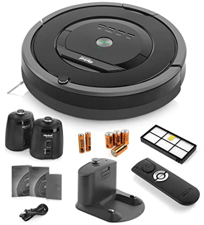 iRobot Vacío Robot Limpieza Roomba 880 con 2 faros Virtual Wall (pilas incluidas),