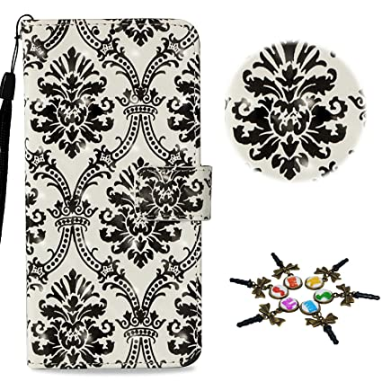 Stenes Iphone 8 Case Draw Series Crown Lace Design Flip Wallet Credit Card Slots Fold