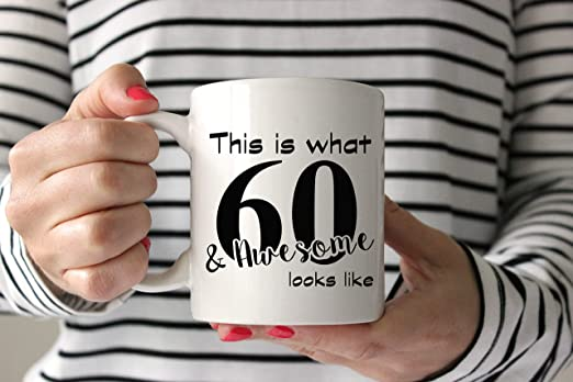 Amazon.com: Regalo de 60 cumpleaños, 60 cumpleaños para ...