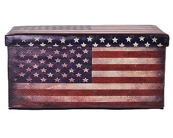 Ondis polsterhocker wäschebox usa flagge vintage sitzhocker