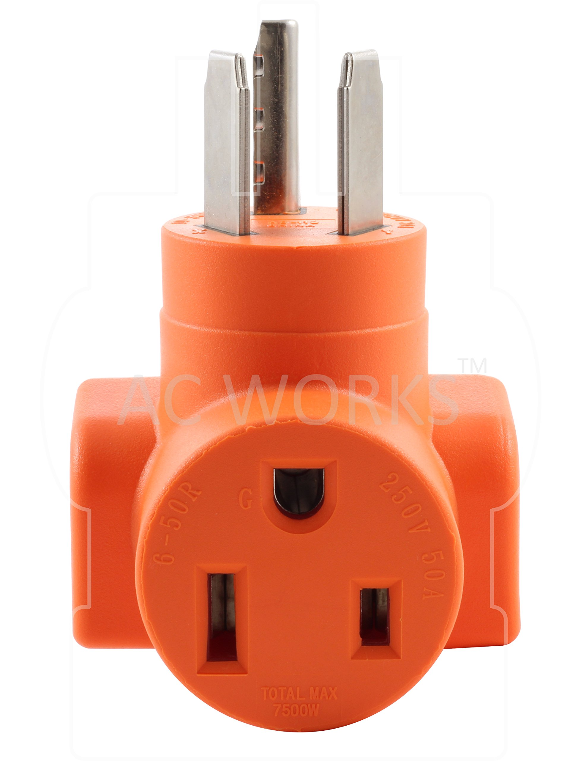 AC WORKS [WD1030650] NEMA 10-30 3-Prong Dryer Plug to 6-50 Welder Adapter by AC WORKS (Image #4)
