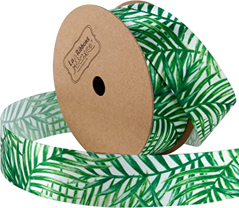 "3 Yds Palm Leaves Wired Ribbon 1 1//2/""W"