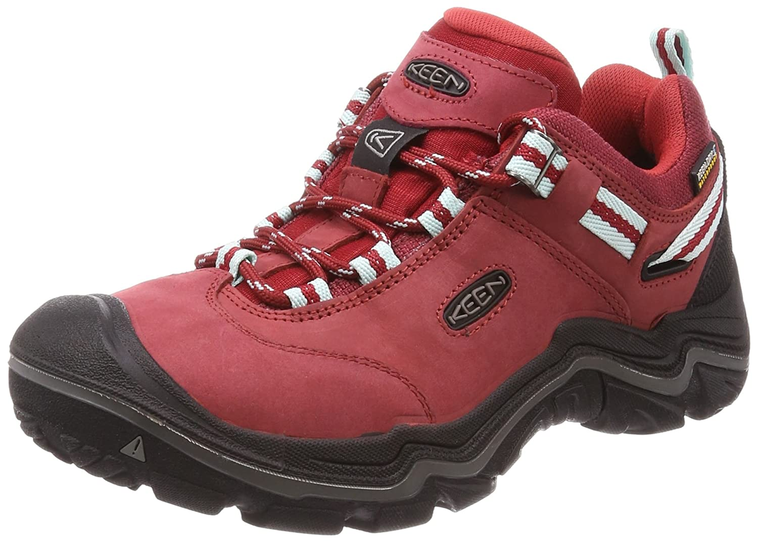 Keen Wanderer Waterproof, Zapatos de Low Rise Senderismo para Mujer6|Chili Pepper