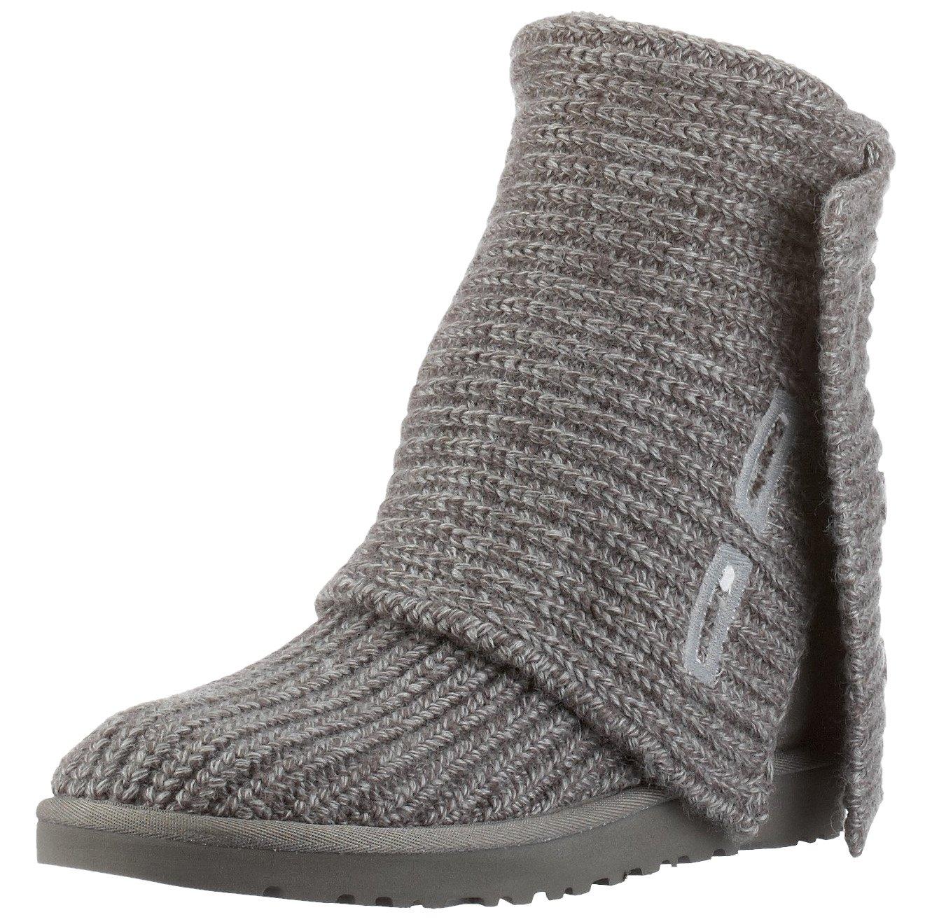 UGG Australia Women's Classic Cardy Knit Sheepskin Fashion Boot Grey 10 M US by UGG