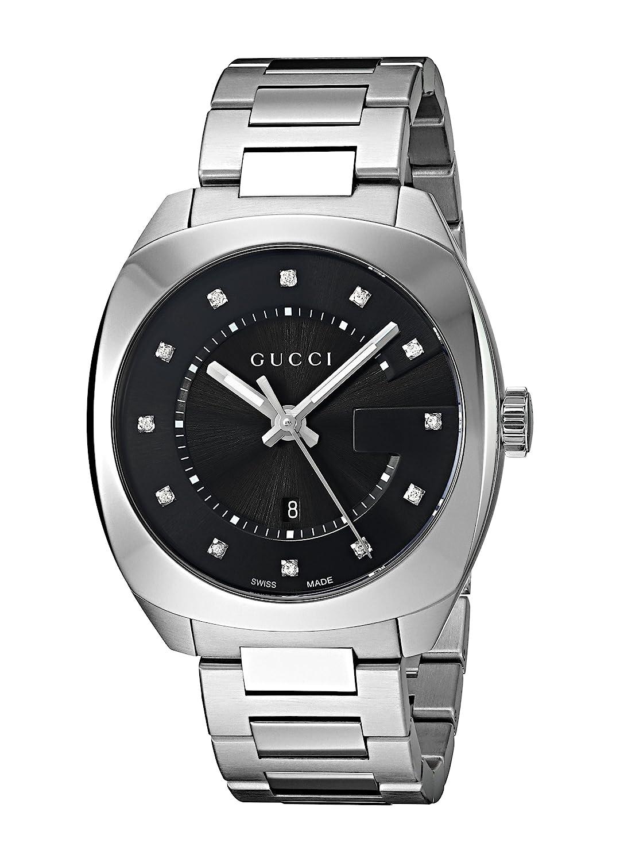 d81dd69e981 Amazon.com  Gucci Swiss Quartz Stainless Steel Dress Silver-Toned Men s  Watch(Model  YA142404)  Gucci  Watches