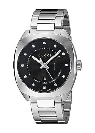9e24129200a Amazon.com  Gucci Swiss Quartz Stainless Steel Dress Silver-Toned Men s  Watch(Model  YA142404)  Gucci  Watches