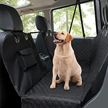 dog car seat covers pet back seat cover with mesh viewing window   side flaps dog car seat covers pet back seat cover with mesh viewing window      rh   amazon co uk