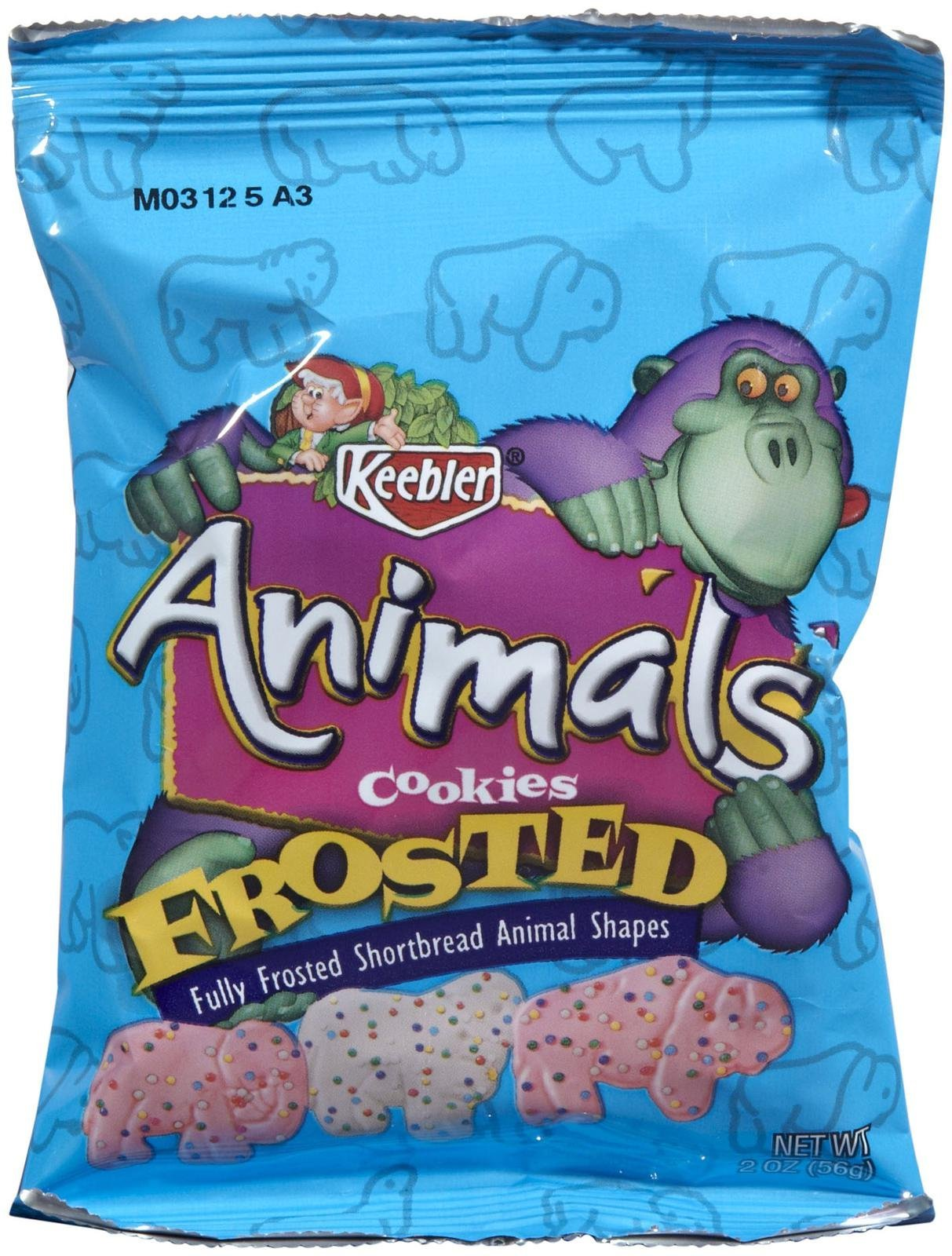 Keebler Frosted Animal Crackers Snack Packs-2 oz, 8 ct by Keebler