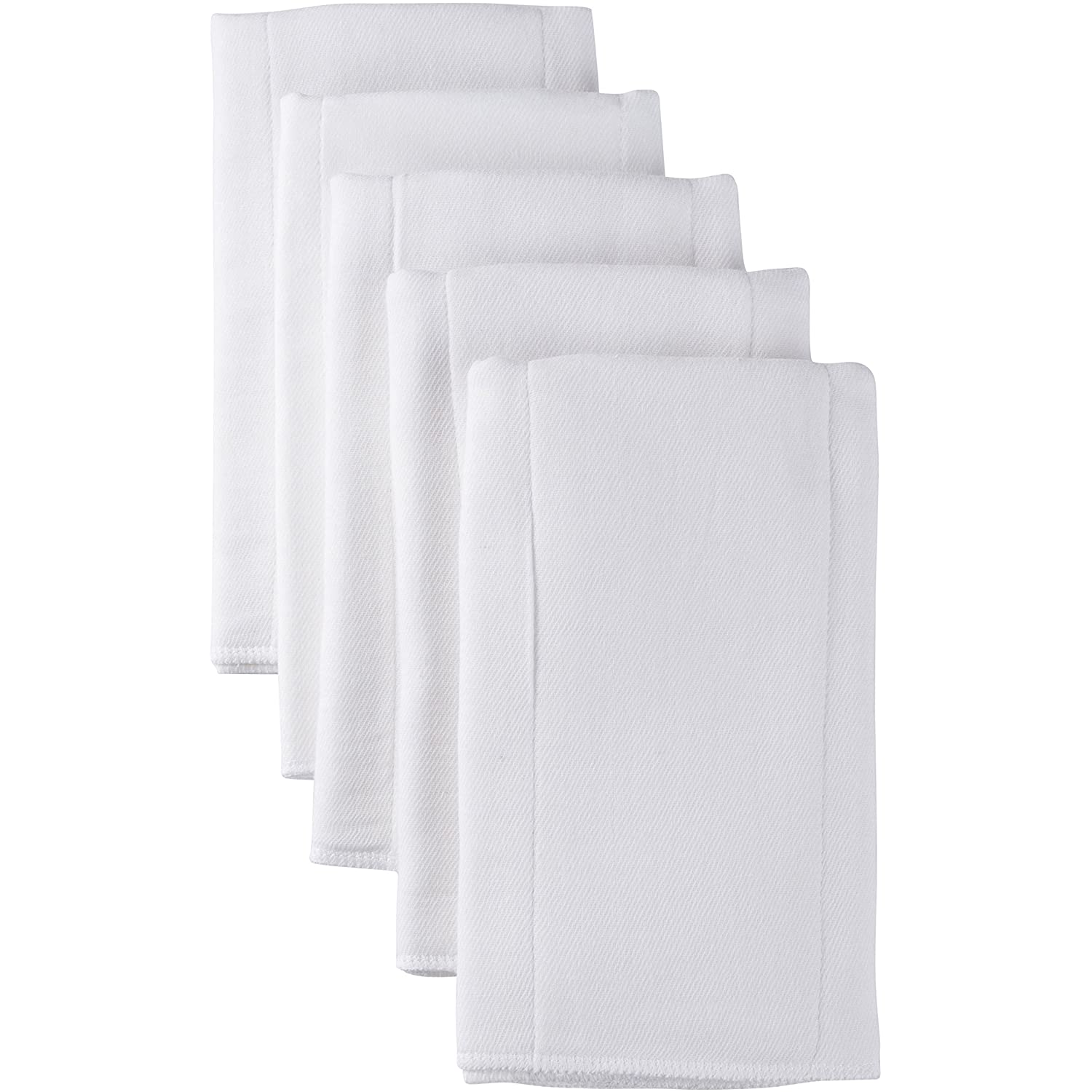 Gerber 5 Count Heavyweight Gauze Prefold, White
