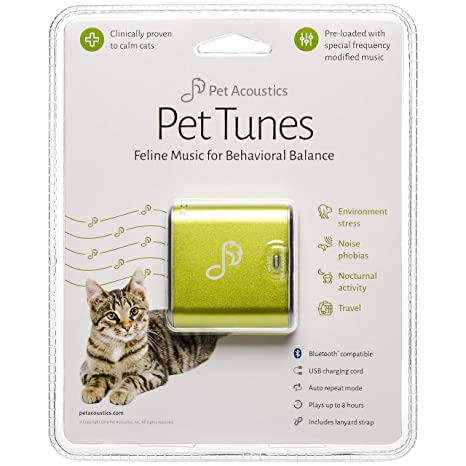Pet Acoustics Pet Tunes Bluetooth Speaker Preloaded with Calming Feline  Music, Green