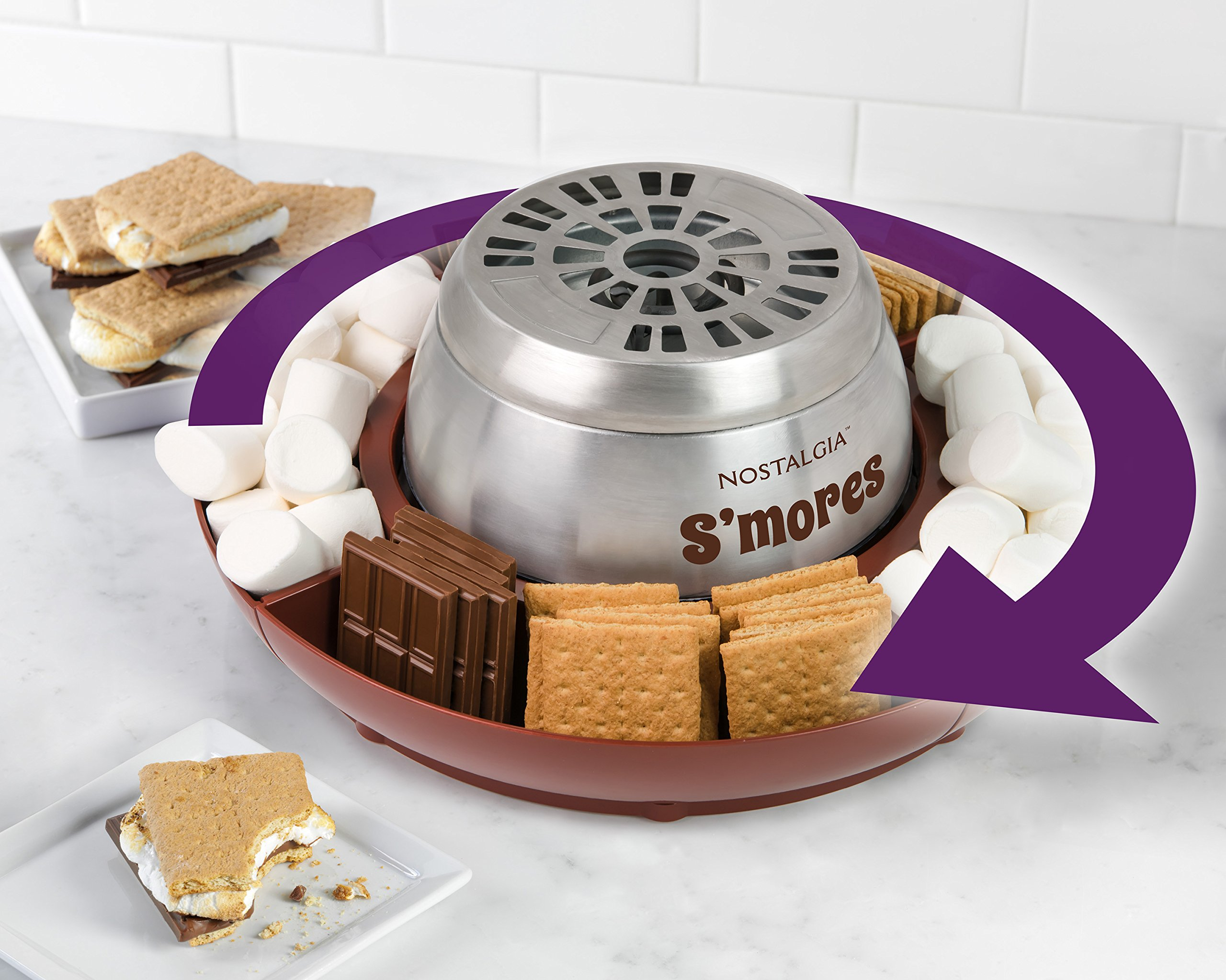 Nostalgia LSM400 Lazy Susan Electric Stainless Steel S'Mores Maker by Nostalgia (Image #4)