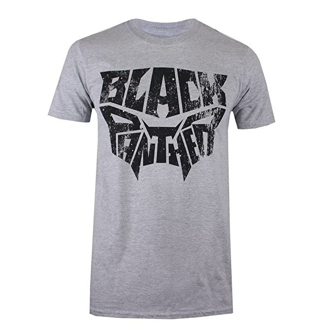 Black Panther Text Mask, Camiseta para Hombre