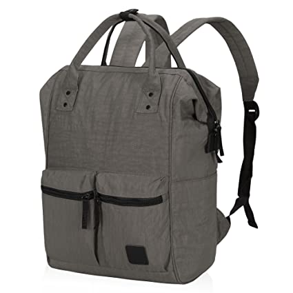 6f7e28389131 Veegul Wide Open Multipurpose School Backpack Lightweight Travel Bag With  Laptop Compartment Gray