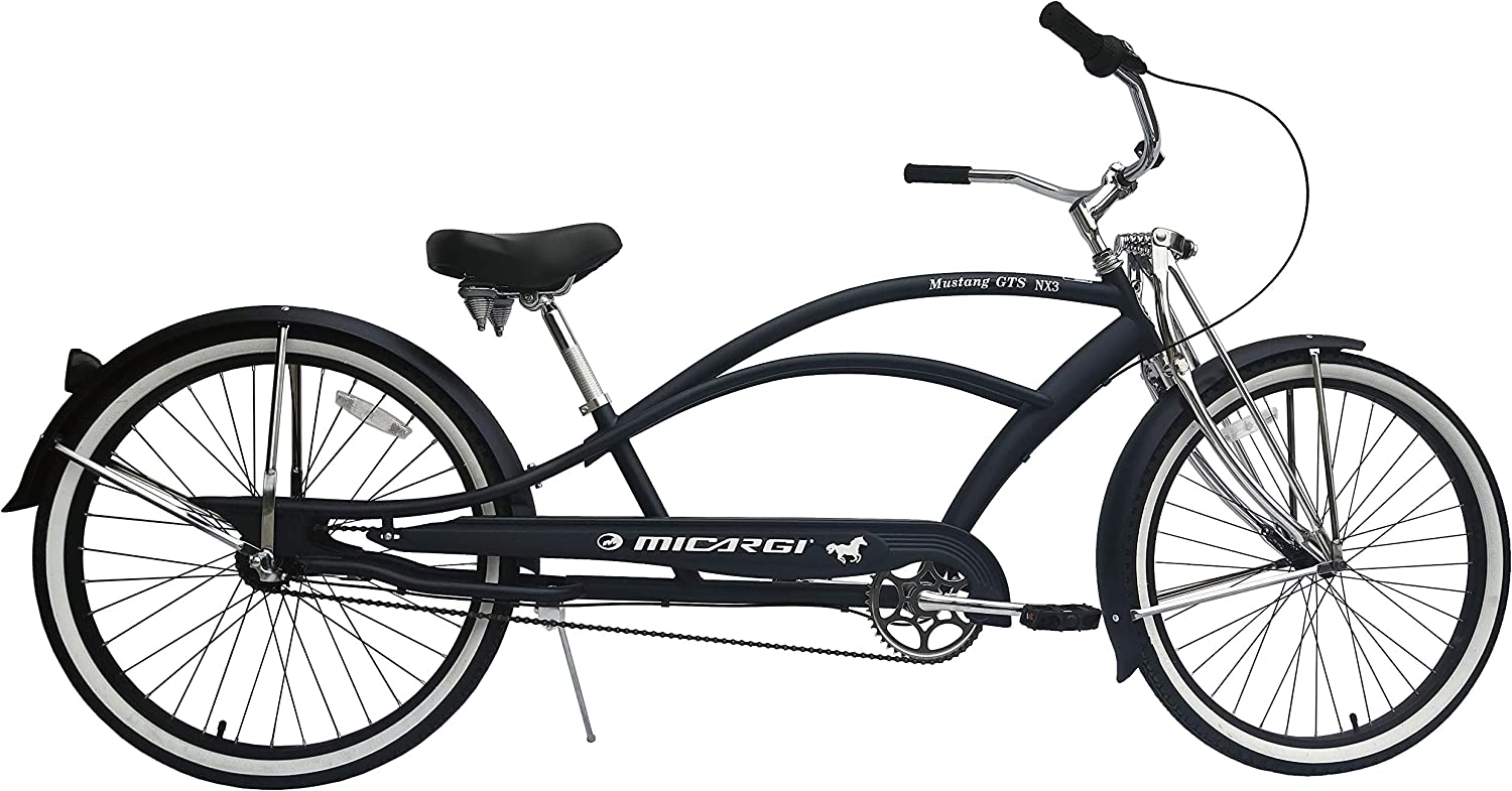 micargi mens black beach cruiser bike
