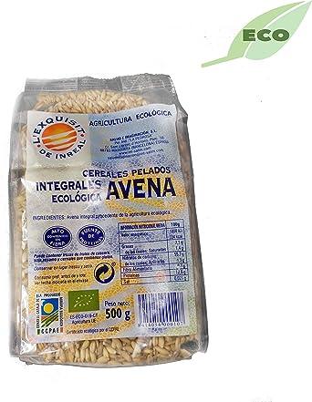 Avena integral ecológica en grano pelada – 500 gr: Amazon.es ...