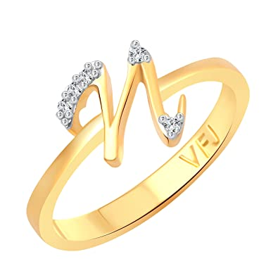 Buy Vighnaharta initial N Letter CZ Gold and Rhodium Plated