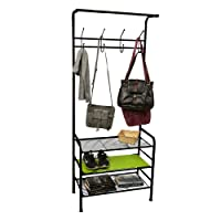 Amazon.com deals on Mind Reader Metal Coat/Shoe Rack Shelving Organizer