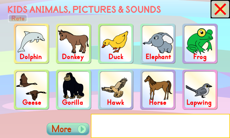 Best Free Apps For Toddlers >> Amazon.com: Kids Animals Pictures & Sounds: Appstore for Android