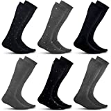 Men's Compression Socks (6-Pack) – Graduated Muscle Support - Athletic or Medical