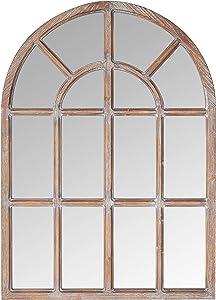 Amazon Brand – Stone & Beam Vintage Farmhouse Wooden Arched Mantel Mirror, 36.25