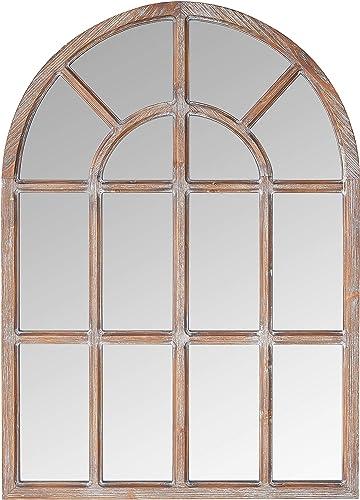 Amazon Brand Stone Beam Vintage Farmhouse Wooden Arched Mantel Mirror