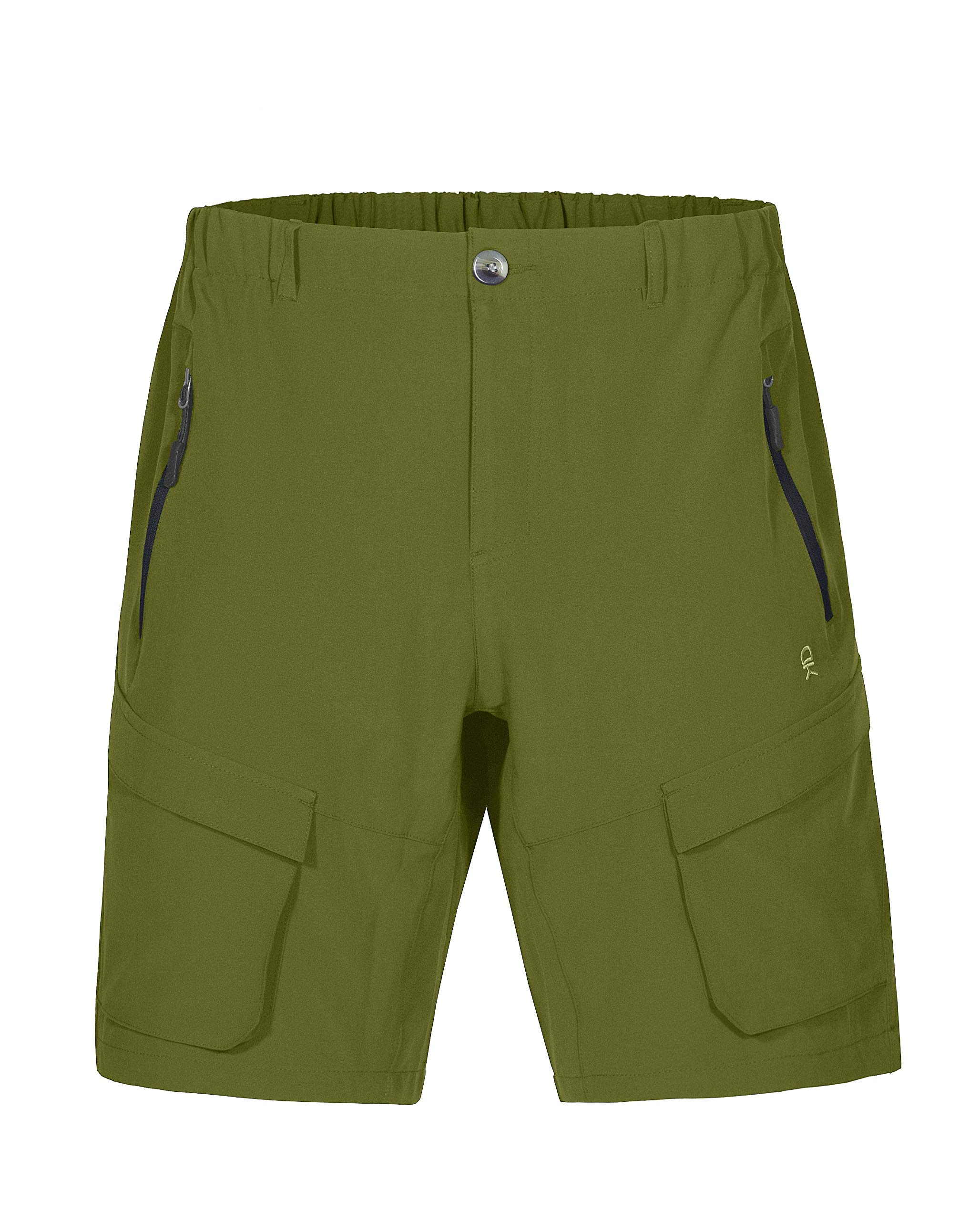 Little Donkey Andy Men's Stretch Quick Dry Cargo Shorts for Hiking, Camping, Travel Olive Size L by Little Donkey Andy