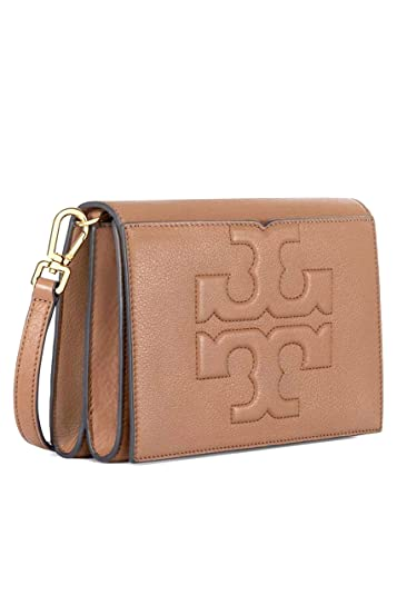47543d0f45f8 Amazon.com  Tory Burch Bombe T Combo Leather Cross Body Bag Women s Leather  Handbag (Bark)  Shoes