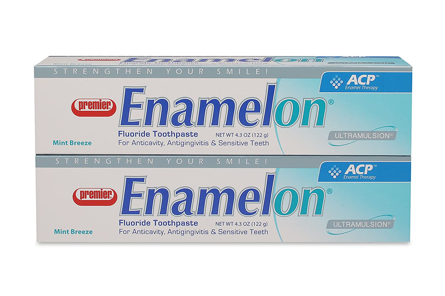 Premier 9007270 Enamelon Toothpaste Mint Breeze, 122 g, White (Pack of 2)