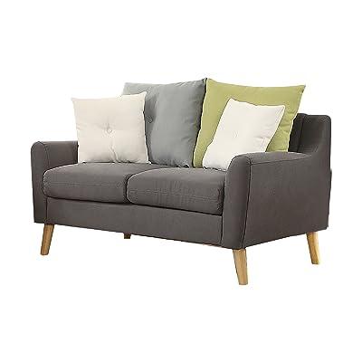 Acme Furniture 53331 Amie Loveseat Sofa, Gray