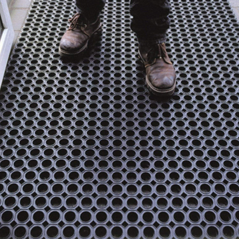 Ocho Agujeros Antideslizante drenante Varios tama/ños Olivo Tappeti Alfombra de Goma Antideslizante de Rejilla Grosor 16 mm Felpudo de Entrada Exterior