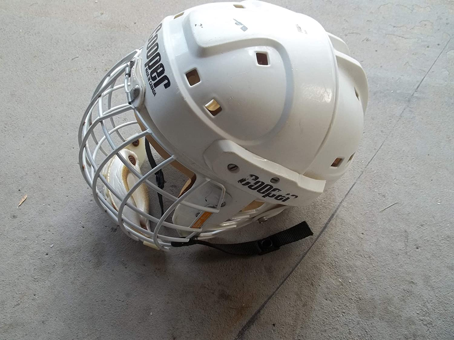 Cooper Ice Hockey Helmet with full face cage - Size (adult/teen) - Very Good Structual Condition