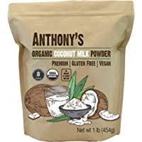 Anthony's Organic Coconut Milk Powder, 1lb, Gluten Free, Vegan & Dairy Free, All Natural Creamer, Keto Friendly