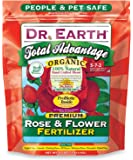 Dr. Earth 702P Organic 3 Rose & Flower Fertilizer in Poly Bag, 4-Pound
