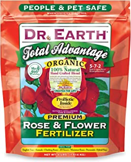 product image for Dr. Earth 702P Organic 3 Rose & Flower Fertilizer in Poly Bag, 4-Pound