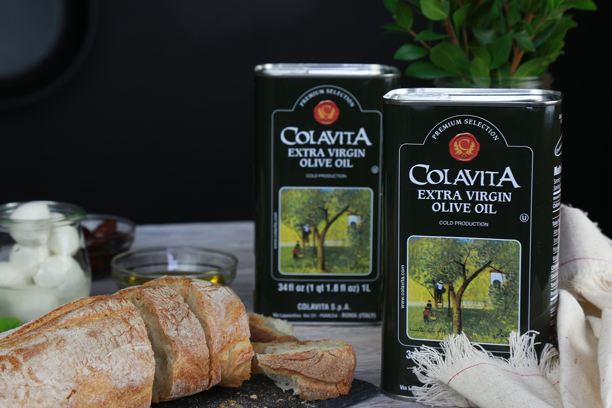 Colavita Extra Virgin Olive Oil, 34 oz Tins (Pack of 2) by Colavita (Image #8)