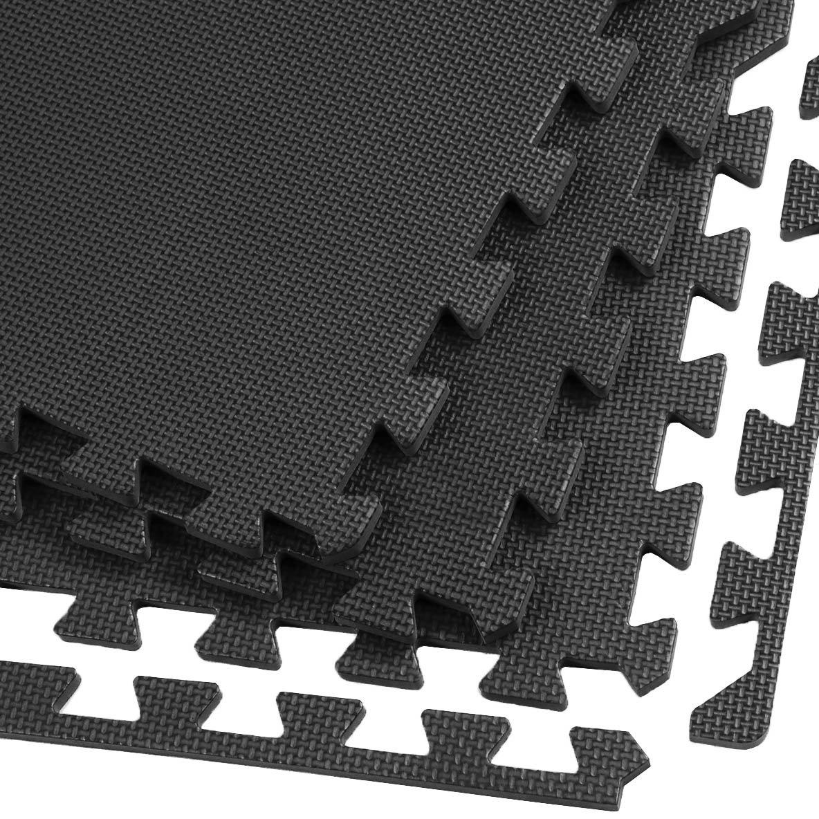 Amazon Clevr Interlocking Gym Eva Foam Floor Mat Tiles 24 X