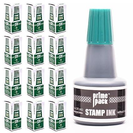 amazon com primepack stamp ink refill set bulk 12 pack for