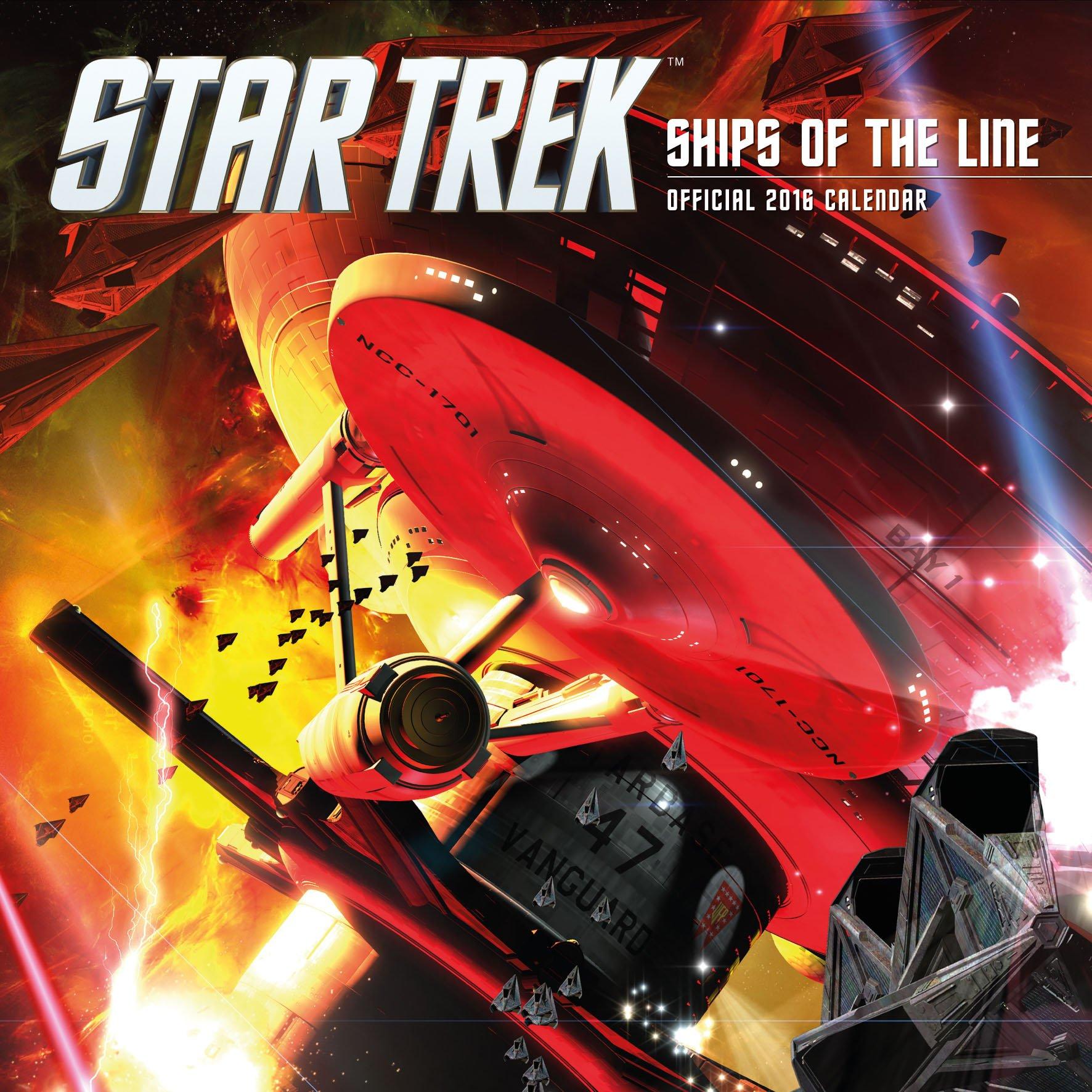 Official Star Trek 2016 Square Wall Calendar (Ships of the Line Calendar) Calendario – Ridotto, Audiolibro, Cofanetto Danilo Danilo Promotions Limited 1780549814 Non-Classifiable