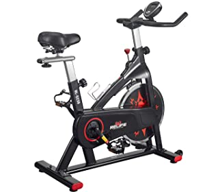 RELIFE REBUILD YOUR LIFE Exercise Bike Indoor Cycling Bike Peloton Bicycle for Home Gym Workout Fitness Equipment Stationary Trainer Bikes Upright Bike